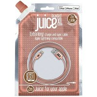 Juice 2M Lightning Cable Rose Gold Braided