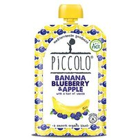 Piccolo Organic Banana, Blueberry & Apple with a Hint of Vanilla Stage 1 100g