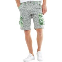 JACK AND JONES Mens Preston Cargo Shorts Green Bay