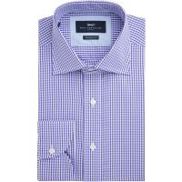 Men's Paul Costelloe Nelson Gingham Check Shirt, Purple