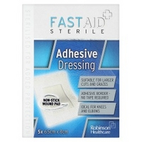 Robinson Healthcare Fast Aid Sterile Adhesive Dressing 5x 6.5cm x 8cm