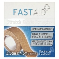 Robinson Healthcare Fast Aid Stretch Fabric Strapping 2.5cm x 4.5m