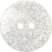 Groves Glitter Button, 17mm, Pack of 3, translucent