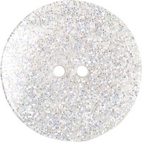 Groves Glitter Button, 22mm, Pack of 2, Translucent