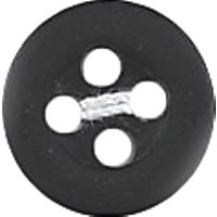 Groves Rimmed Button, 10mm, Pack of 6