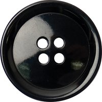 Groves Rimmed Button, 21mm, Pack of 4