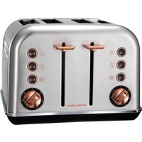MORPHY RICHARDS Accents 102105 4-Slice Toaster - Brushed Stainless Steel & Rose Gold, Stainless Stee