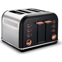MORPHY RICHARDS Accents 242104 4-Slice Toaster - Black & Rose Gold, Black