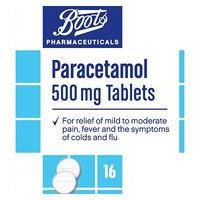 Boots Pharmaceuticals Paracetamol 500mg Tablets  - 16 Tablets