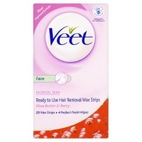 Veet - Ready-to-Use Wax Strips 20 Wax Strips + 4 Perfect Finish Wipes
