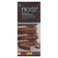 Boots No added sugar Belgian Milk Chocolate Wafers - 100g